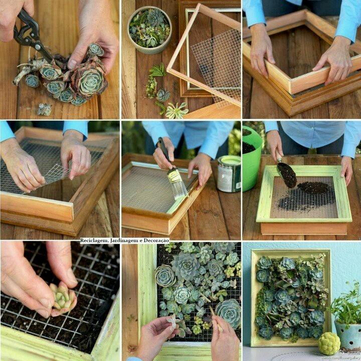 Construindo ideias mais fa a voc mesmo para jardim - Material para jardin vertical ...