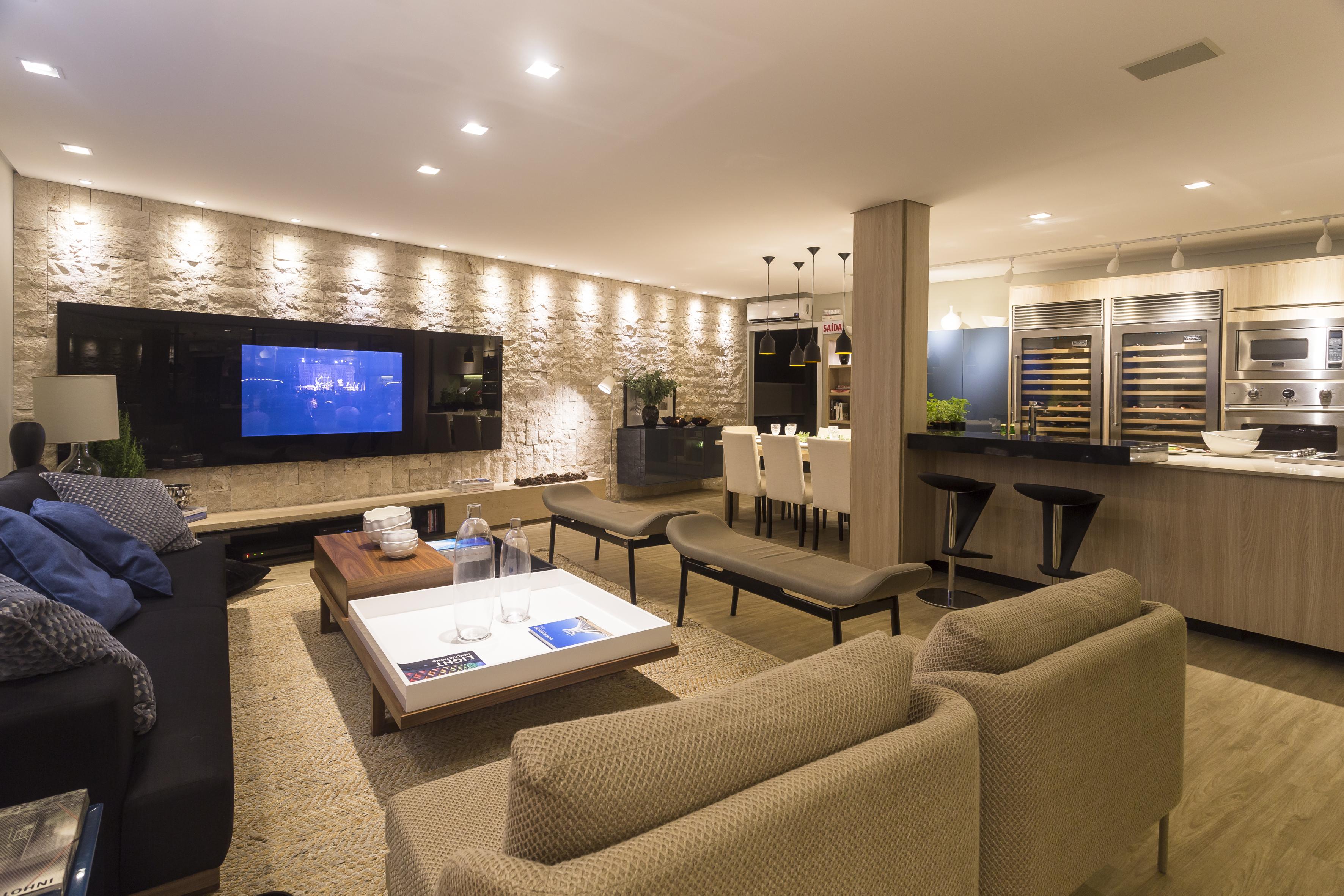 Design de interiores montakasa for Sala de estar gourmet